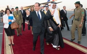 "Hollande au Qatar - <span class=""caps"">DR</span>"